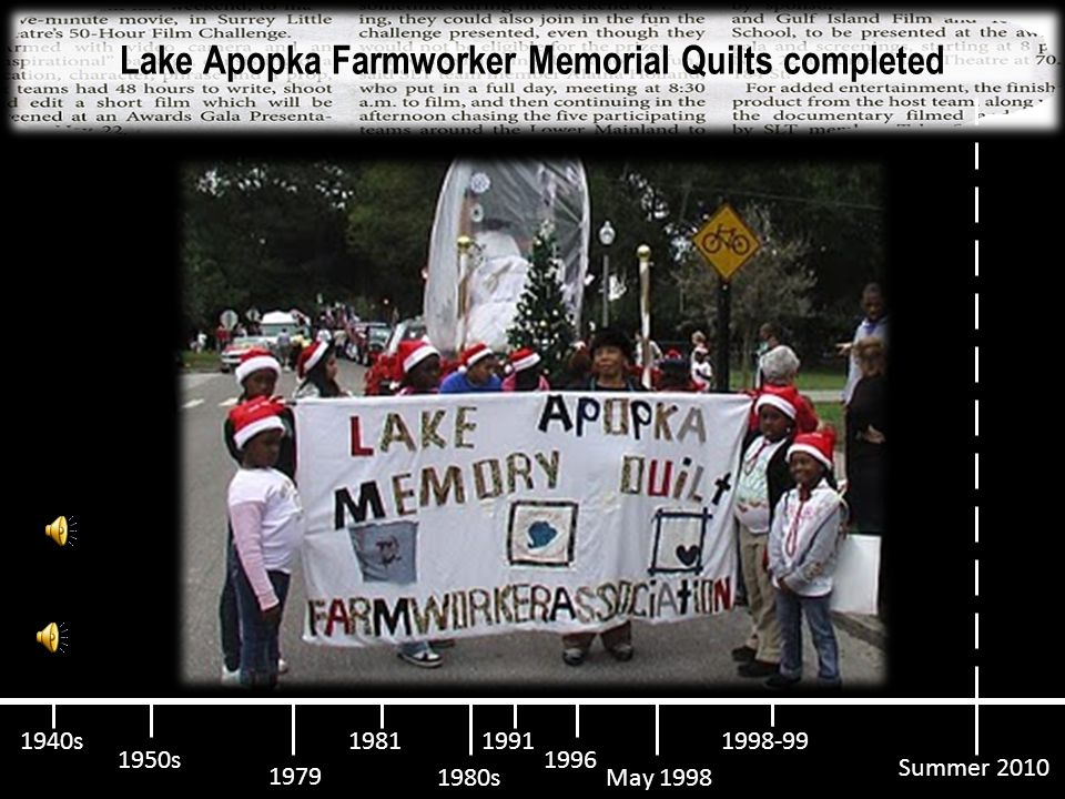Pesticides cause Apopka mass bird death, report says 1950s 1940s 1979 19811991 May 1998 1996 1998-99 1980s Summer 2010