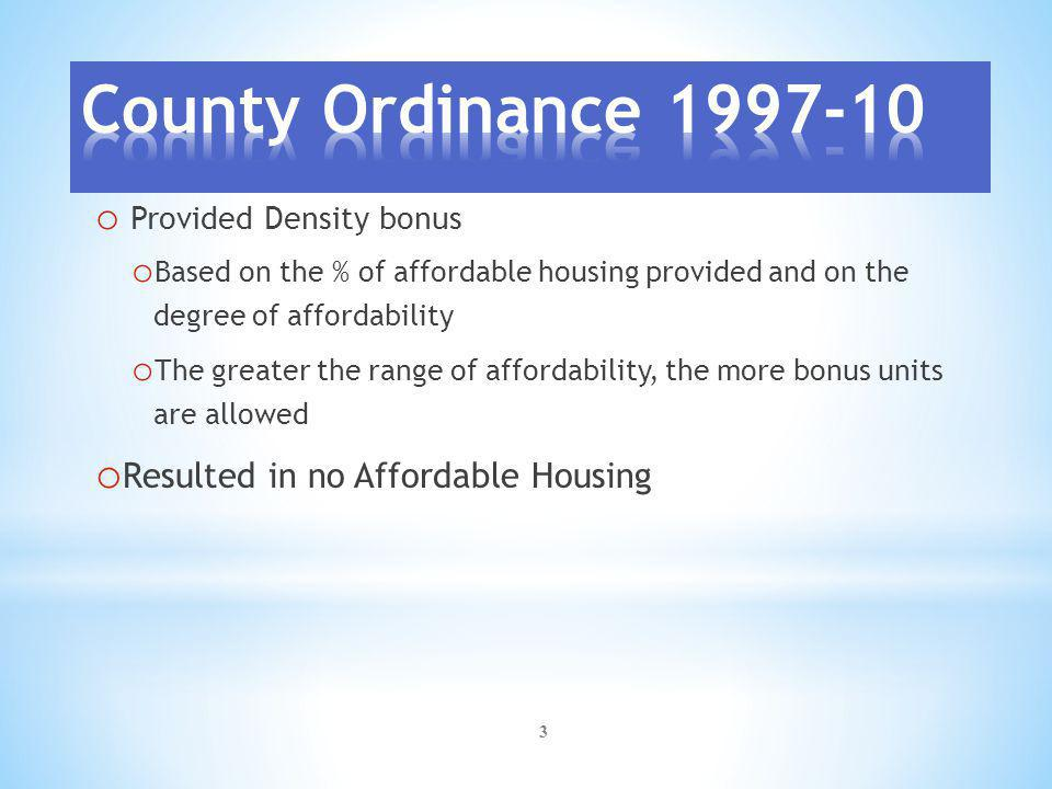4 Community College District Affordable Housing Requirements: o Affordable Housing Plan required in all developments in Village, Fringe, Rural and Employment Center Zones o Fifteen percent (15%) of the total housing approved in the Master Plan required to be identified as Affordable Housing.