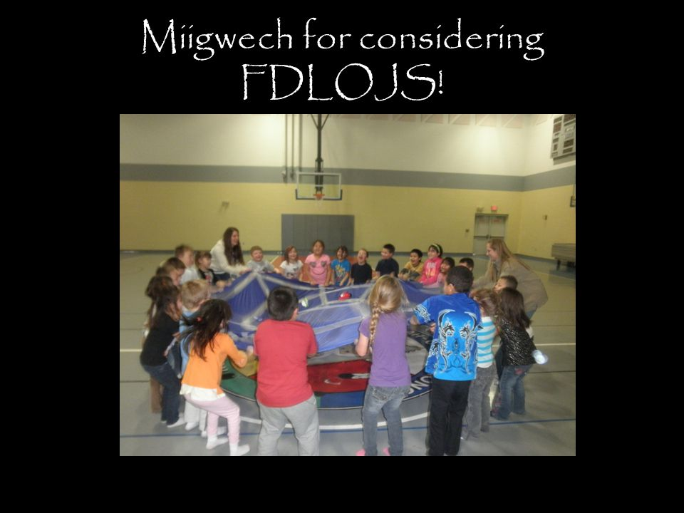 Miigwech for considering FDLOJS!