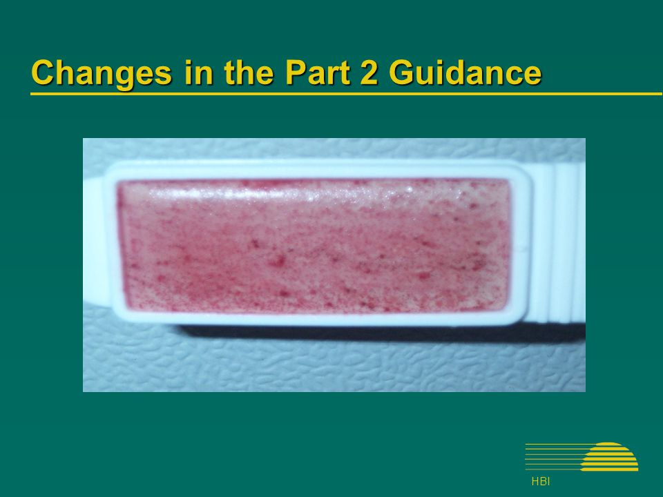 HBI Changes in the Part 2 Guidance