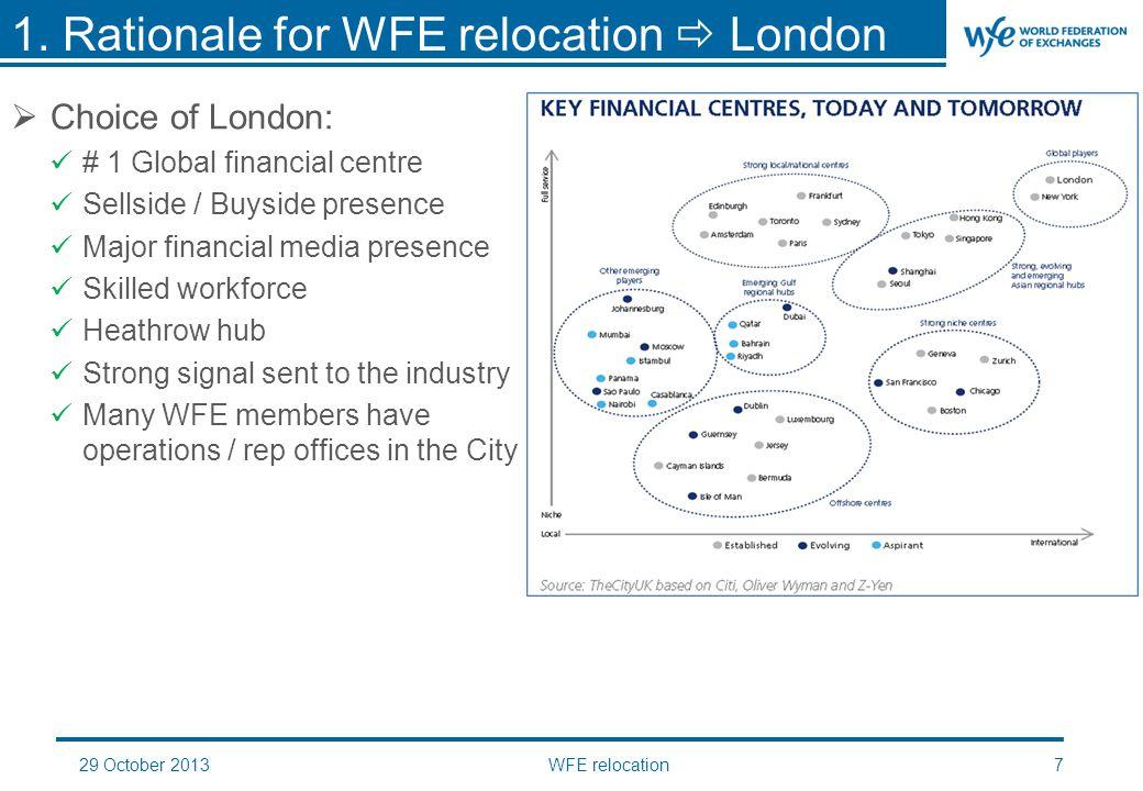 29 October 2013WFE relocation18  Disclaimer: 2.