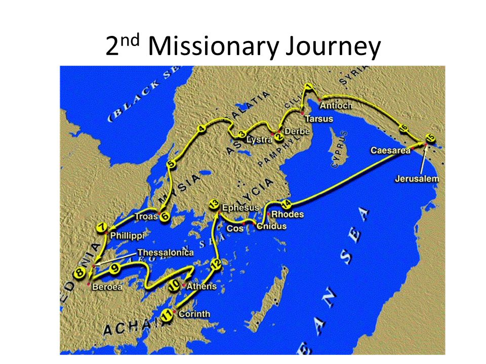 2 nd Missionary Journey
