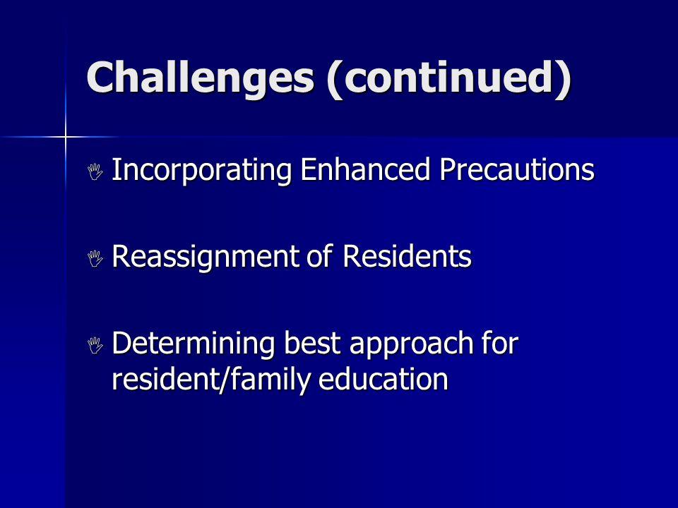 Use of Precautions  Contact Precautions  Enhanced Precautions  Resident Room Placement for MRSA