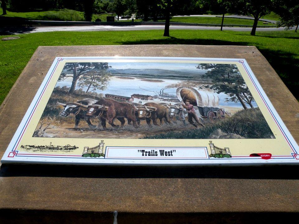 This sign is on the Santa Fe Trail near the Oklahoma/New Mexico border.