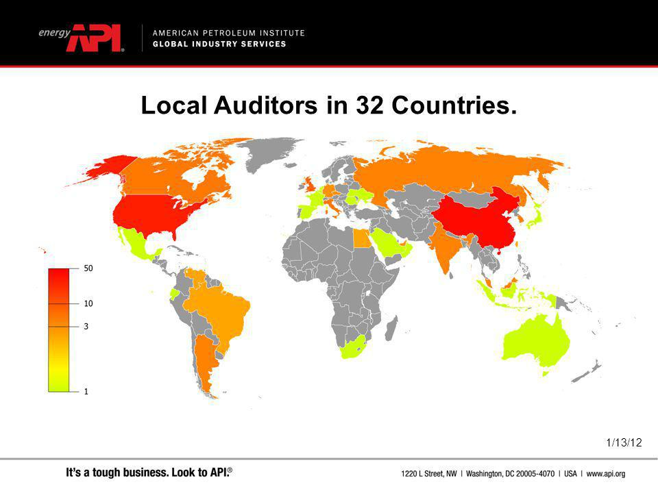 1/13/12 Local Auditors in 32 Countries.