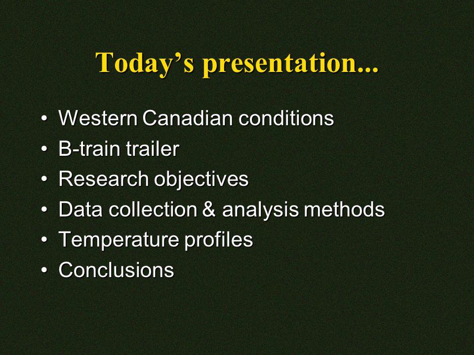 Today's presentation...
