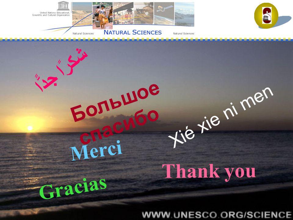 UNESCO National Commissions – Walter Erdelen, ADG/SC Thank you for attention Большое спасибо شكرًا جدًّا Thank you Merci Gracias Xié xie ni men