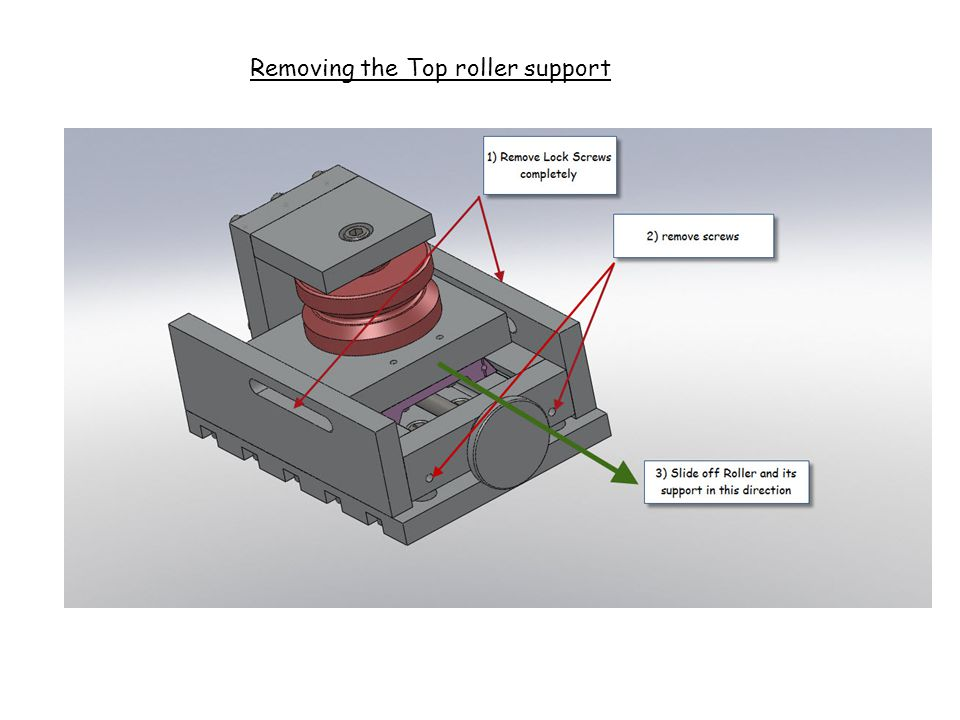 Removing the Top roller support