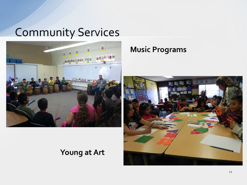 Community Services 12 Music Programs Young at Art
