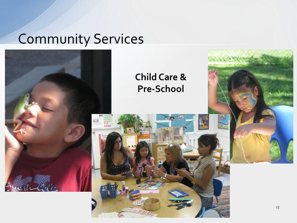 Community Services 15 Child Care & Pre-School