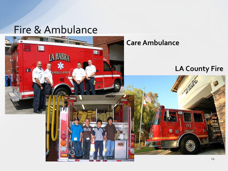 Fire & Ambulance 29 LA County Fire Care Ambulance
