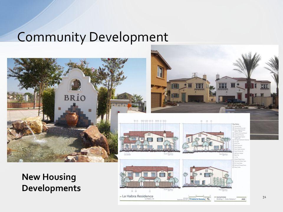 Community Development 31 New Housing Developments