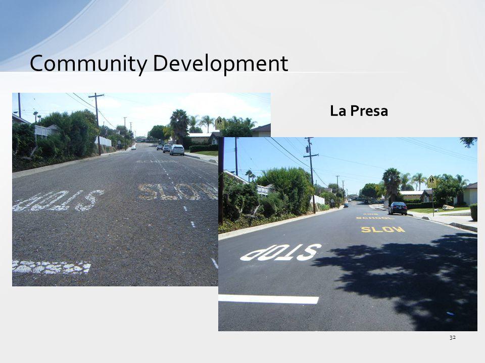 Community Development 32 La Presa