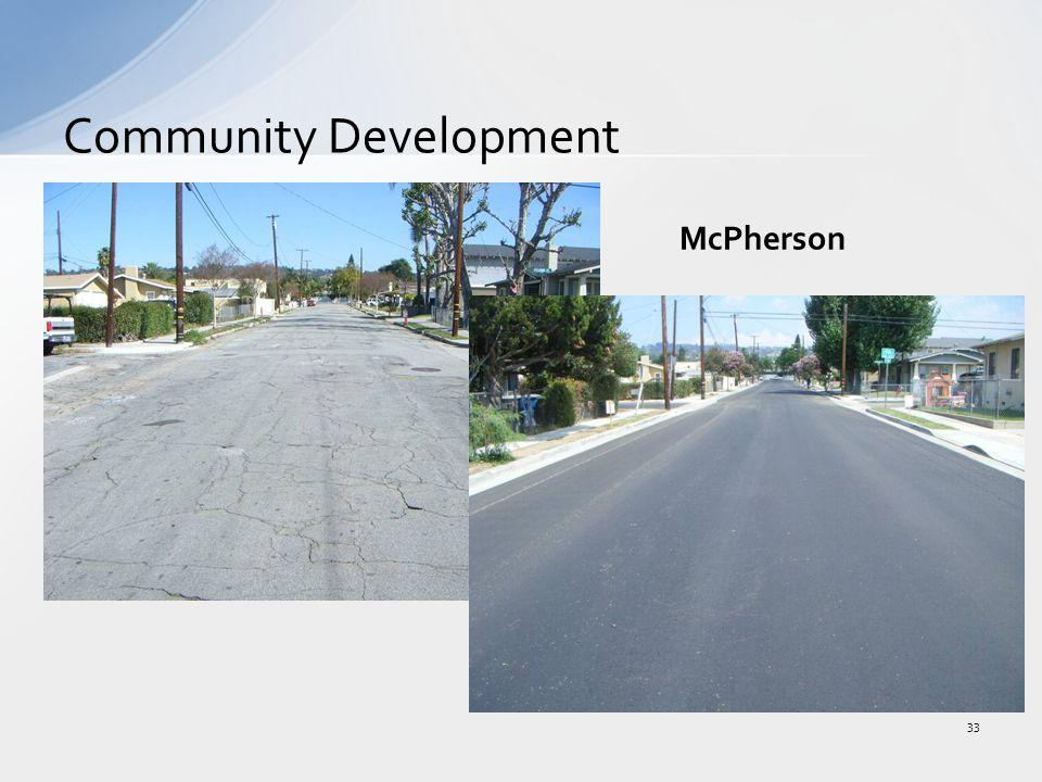 Community Development 33 McPherson