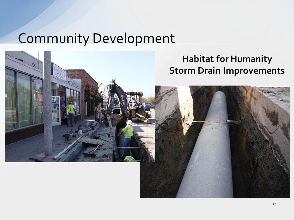 Community Development 34 Habitat for Humanity Storm Drain Improvements