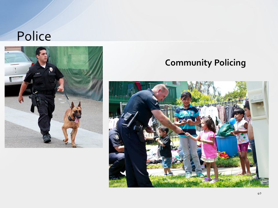 Police 40 Community Policing