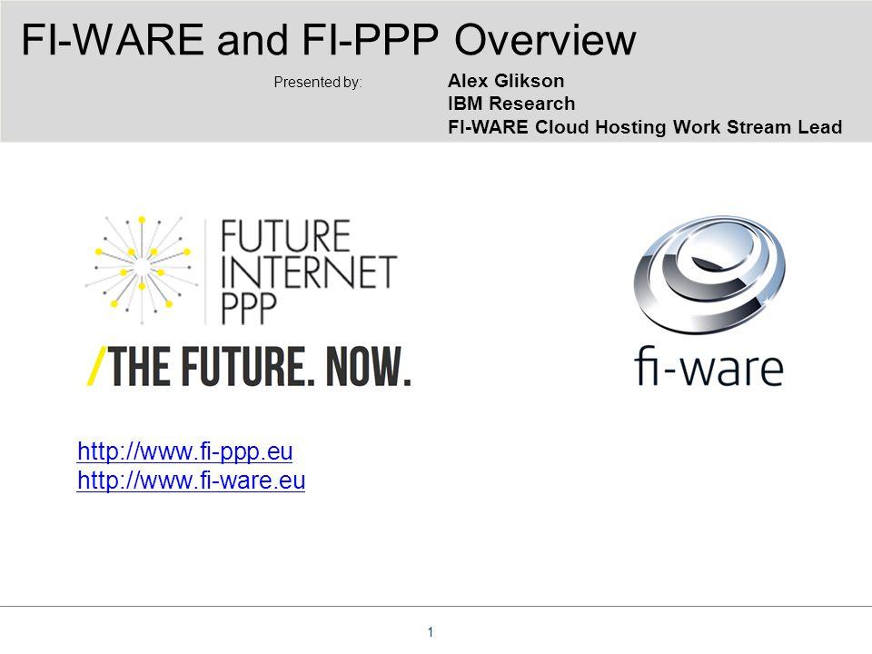 http://www.fi-ppp.eu http://www.fi-ware.eu FI-WARE and FI-PPP Overview 1 Presented by: Alex Glikson IBM Research FI-WARE Cloud Hosting Work Stream Lea