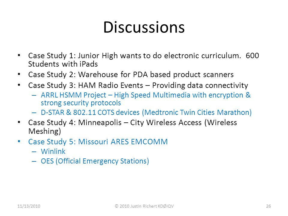 Discussions Case Study 1: Junior High wants to do electronic curriculum.