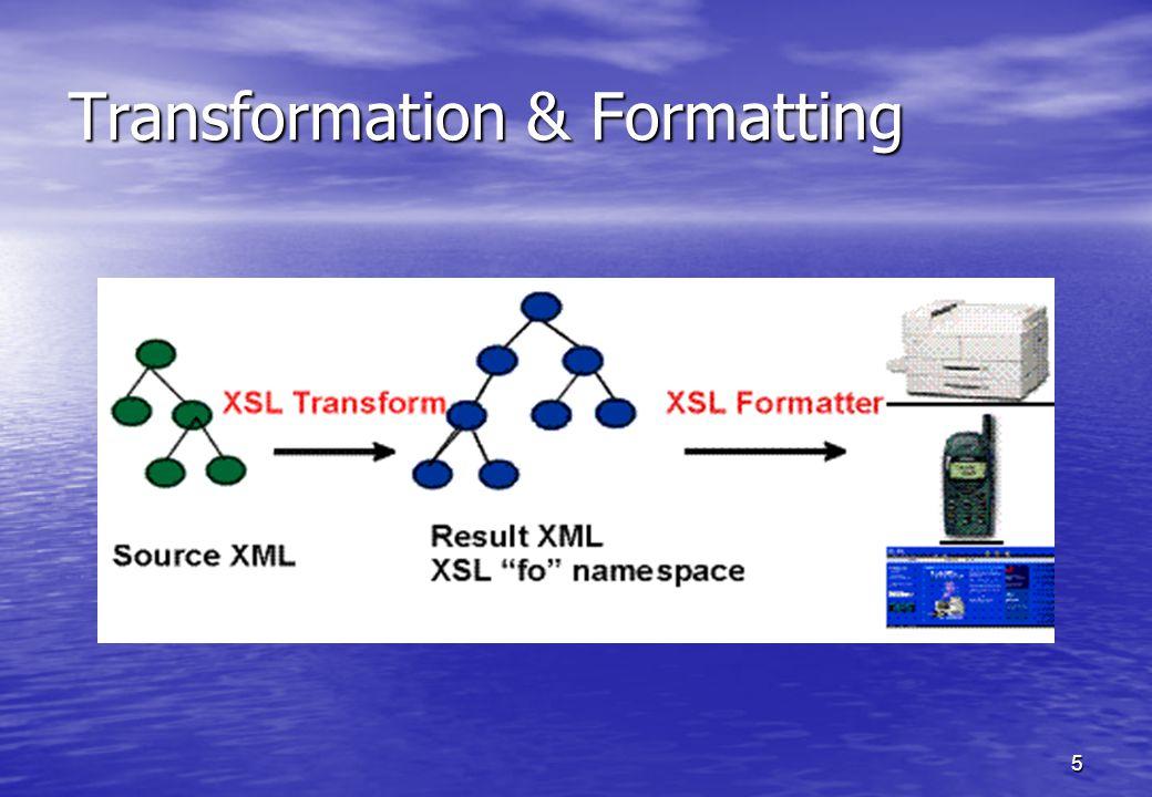 5 Transformation & Formatting