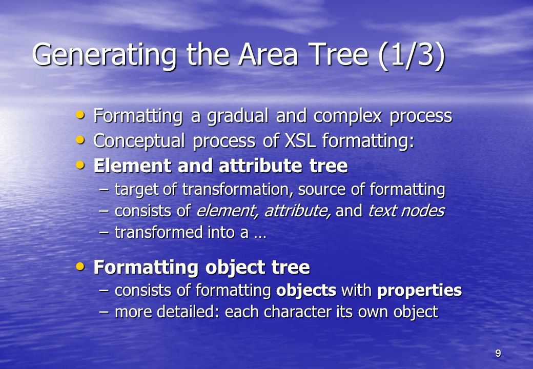 10 Generating the Area Tree (2/3)
