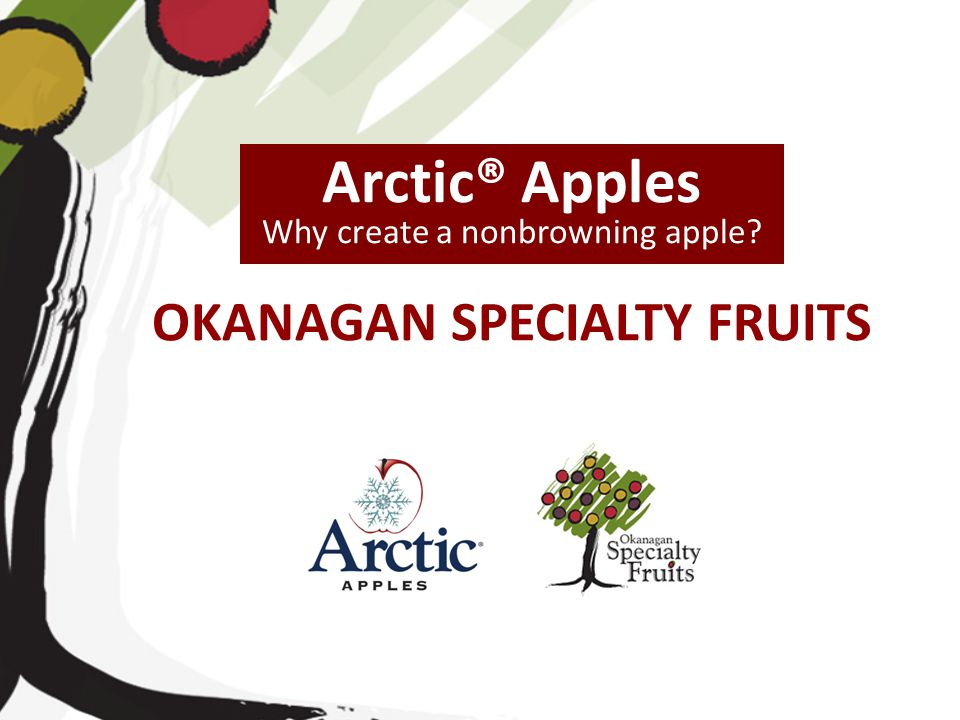 OKANAGAN SPECIALTY FRUITS Arctic® Apples Why create a nonbrowning apple?
