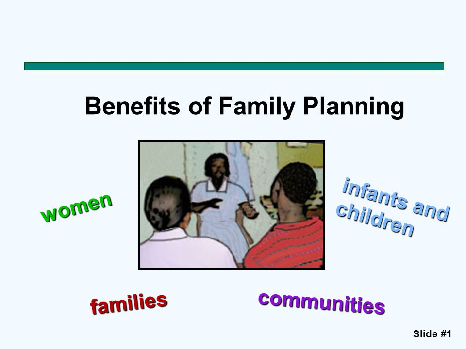 Slide #11 Benefits of Family Planning women infants and children families communities