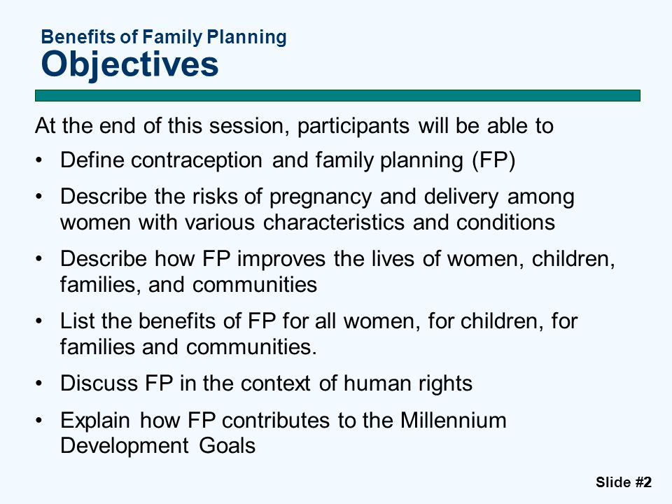 Session I, Slide #33 Defining Contraception and Family Planning What is the definition of contraception.