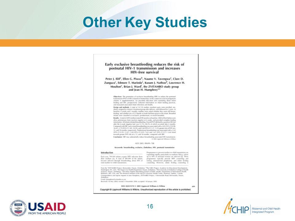 Other Key Studies 16