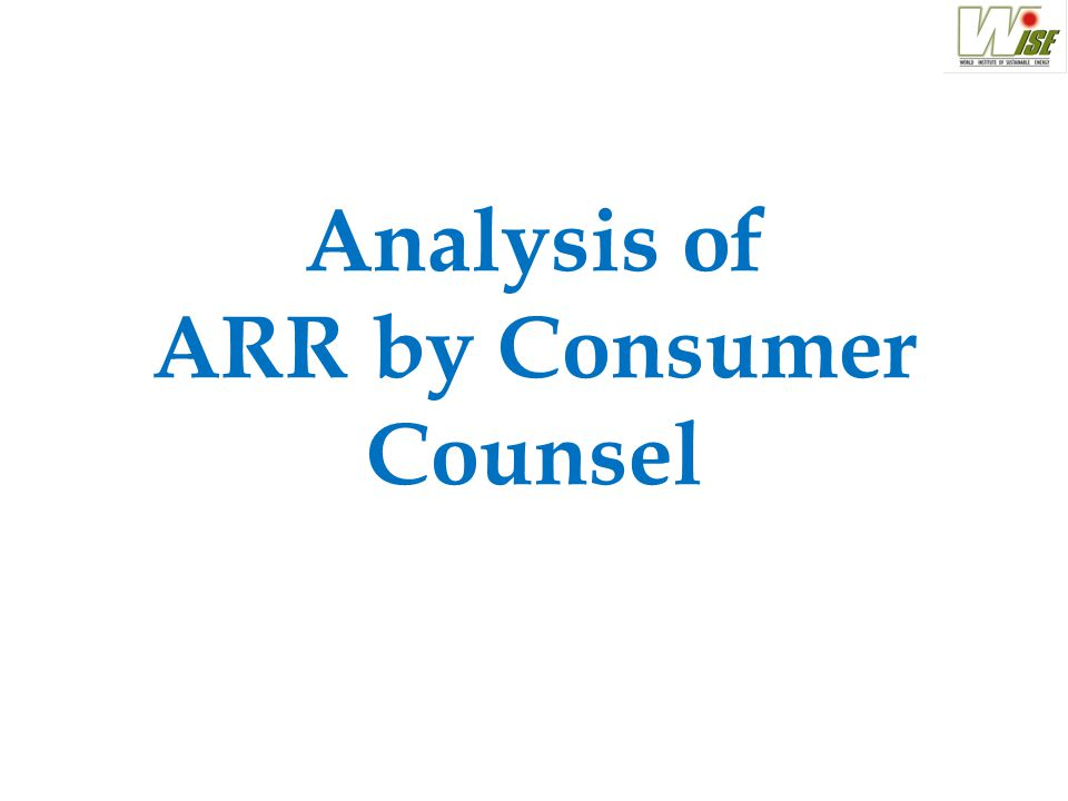 Analysis of ARR by Consumer Counsel