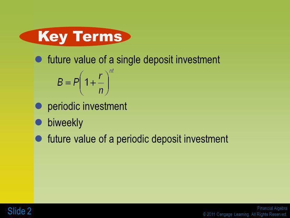 Financial Algebra © 2011 Cengage Learning.All Rights Reserved.