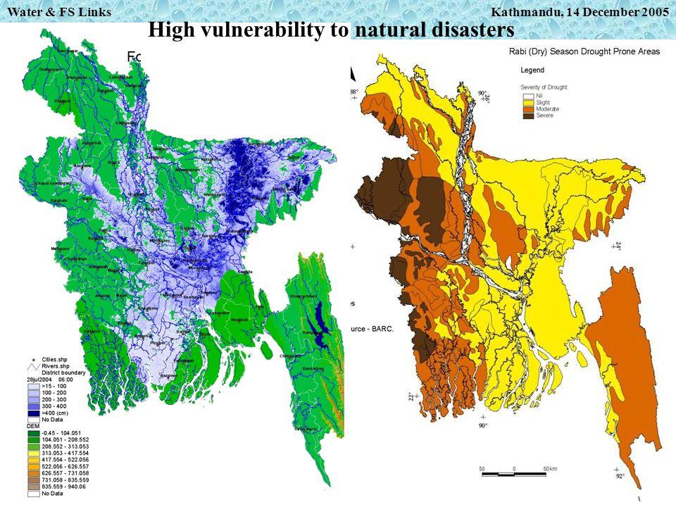Kathmandu, 14 December 2005 High vulnerability to natural disasters Water & FS Links