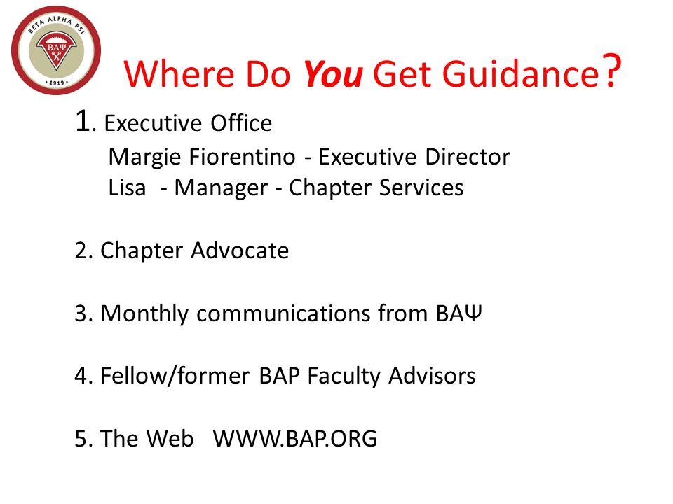 Where Do You Get Guidance . 1.