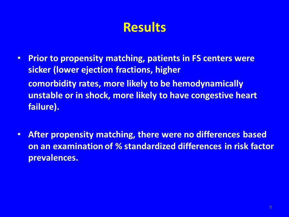 10 Results: Short-Term Outcomes for Pts with PCI For patients undergoing PCI, there were no differences for in-hospital/30-day mortality (2.3% for P-PCI centers vs.