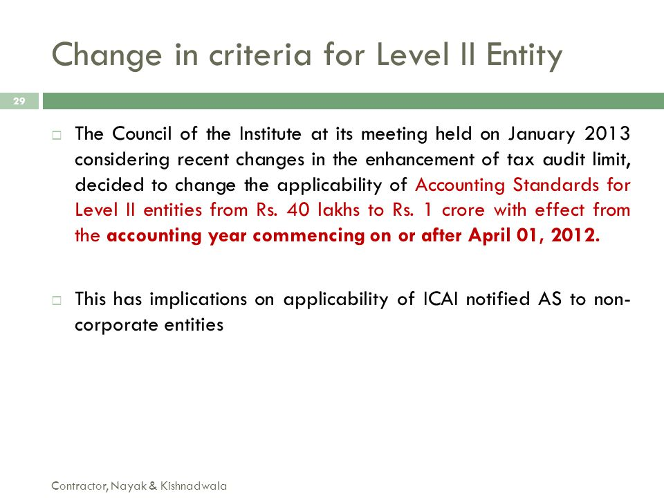  The Council of the Institute at its meeting held on January 2013 considering recent changes in the enhancement of tax audit limit, decided to change
