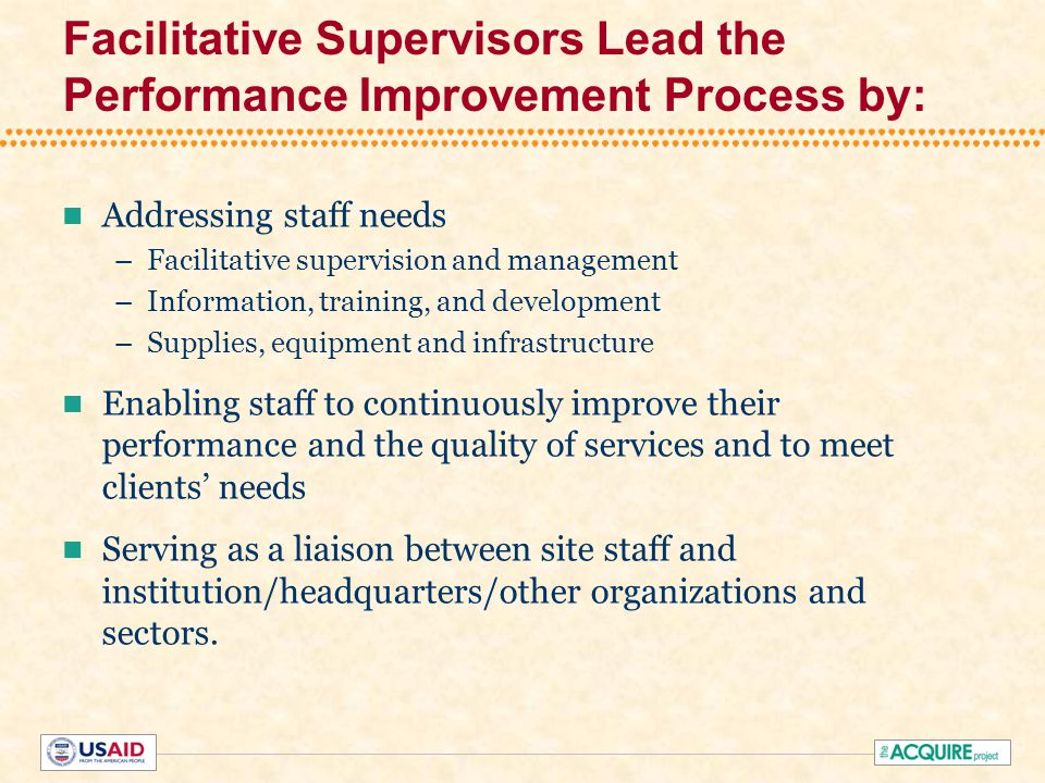 How Do Supervisors Benefit from the Facilitative Approach.
