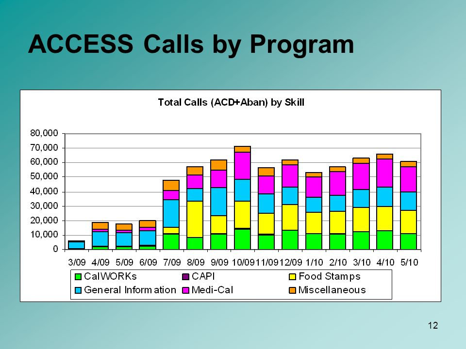 12 ACCESS Calls by Program