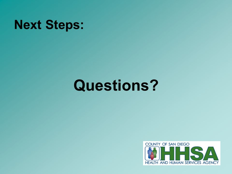 21 Questions Next Steps: