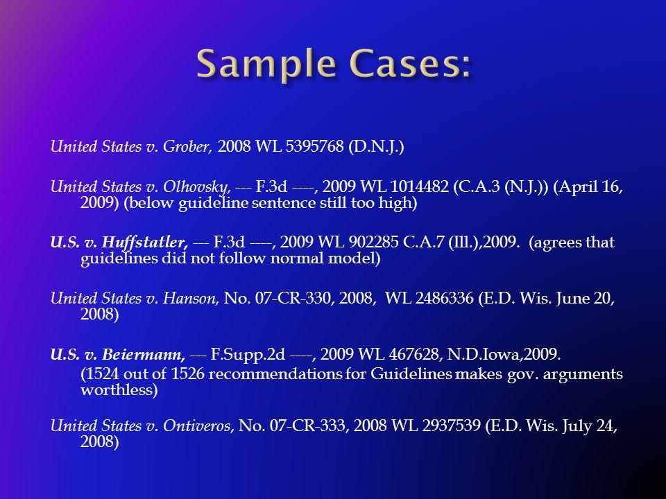 United States v. Grober, 2008 WL 5395768 (D.N.J.) United States v.