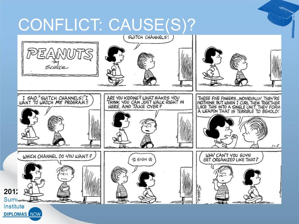 2012 Summer Institute CONFLICT: CAUSE(S)?