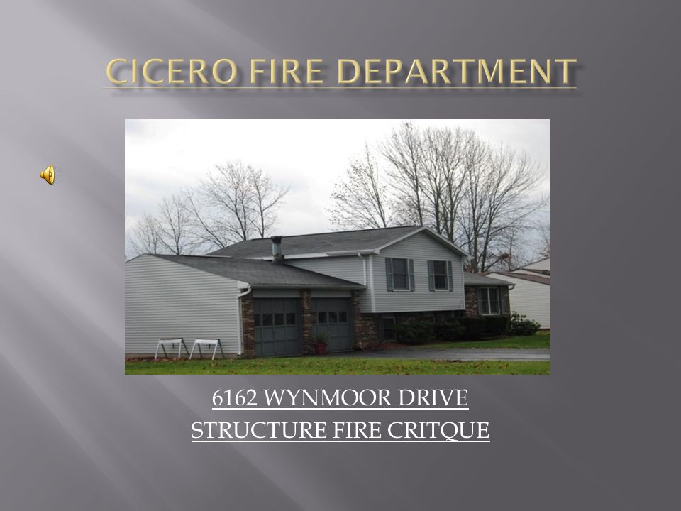  AT 23:38:48 HOURS THE ONONDAGA COUNTY 911 CENTER RECEIVES A 911 CALL FROM THE RESIDENT AT 6158 WYNMOOR DRIVE STATING THE NEIGHBORS HOUSE WAS THE WAS ON FIRE.