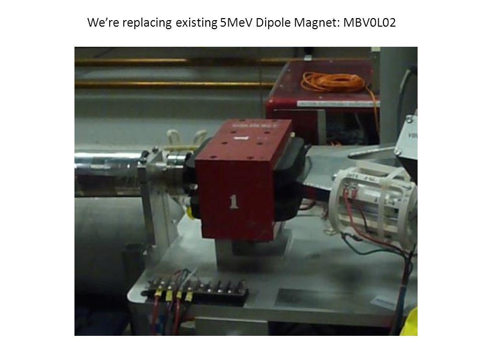 We're replacing existing 5MeV Dipole Magnet: MBV0L02