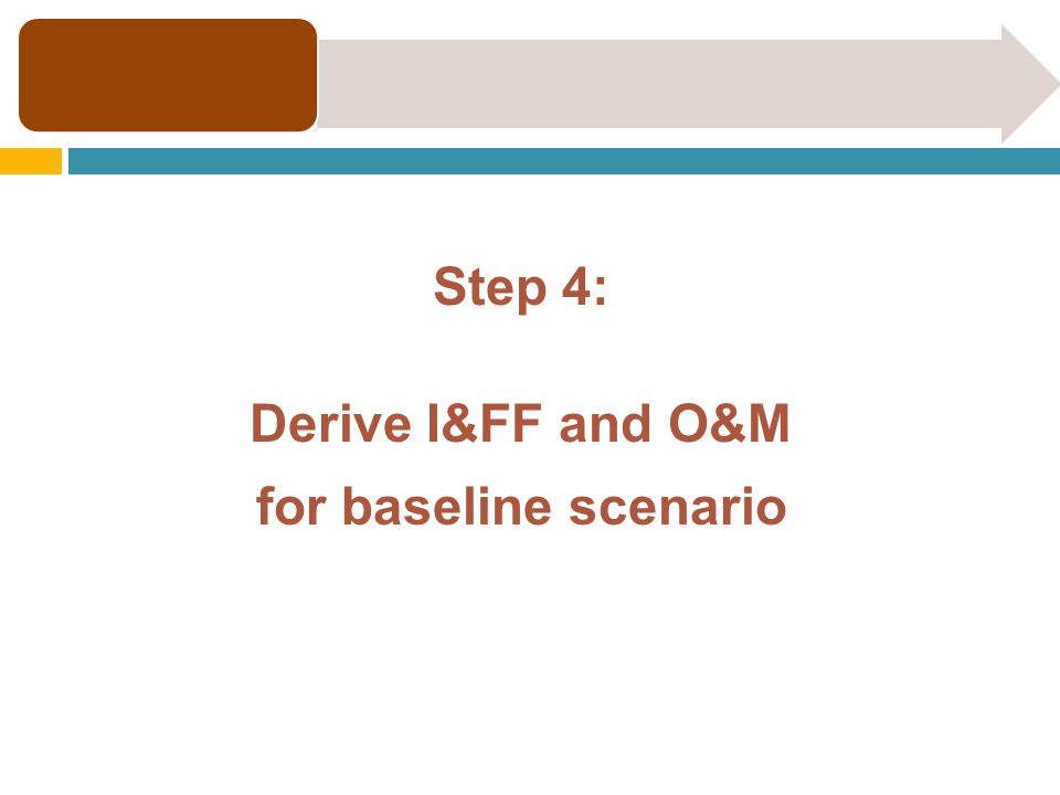 Step 4: Derive I&FF and O&M for baseline scenario