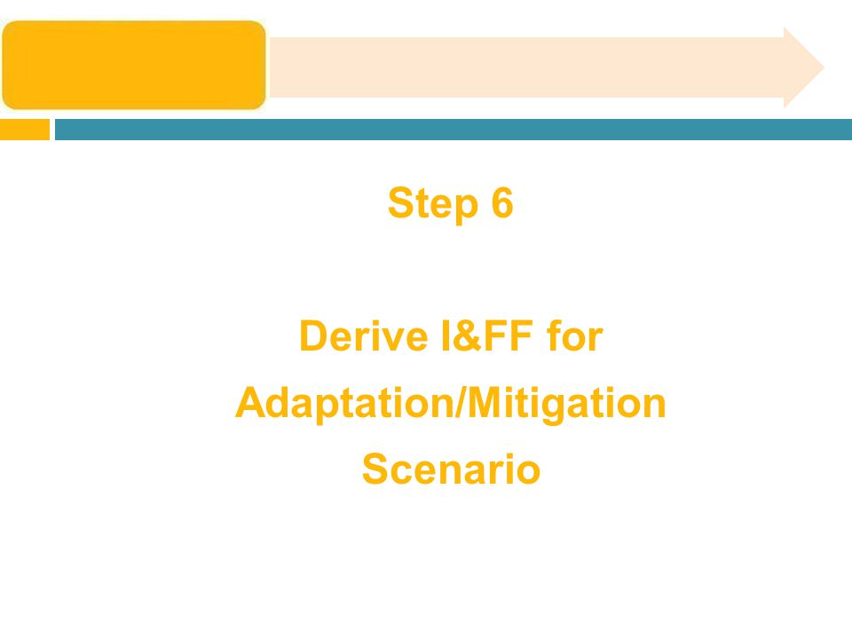 Step 6 Derive I&FF for Adaptation/Mitigation Scenario