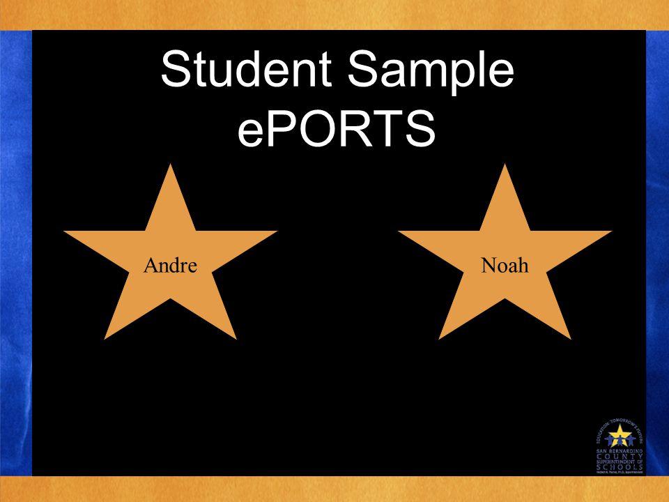 Student Sample ePORTS Noah Andre