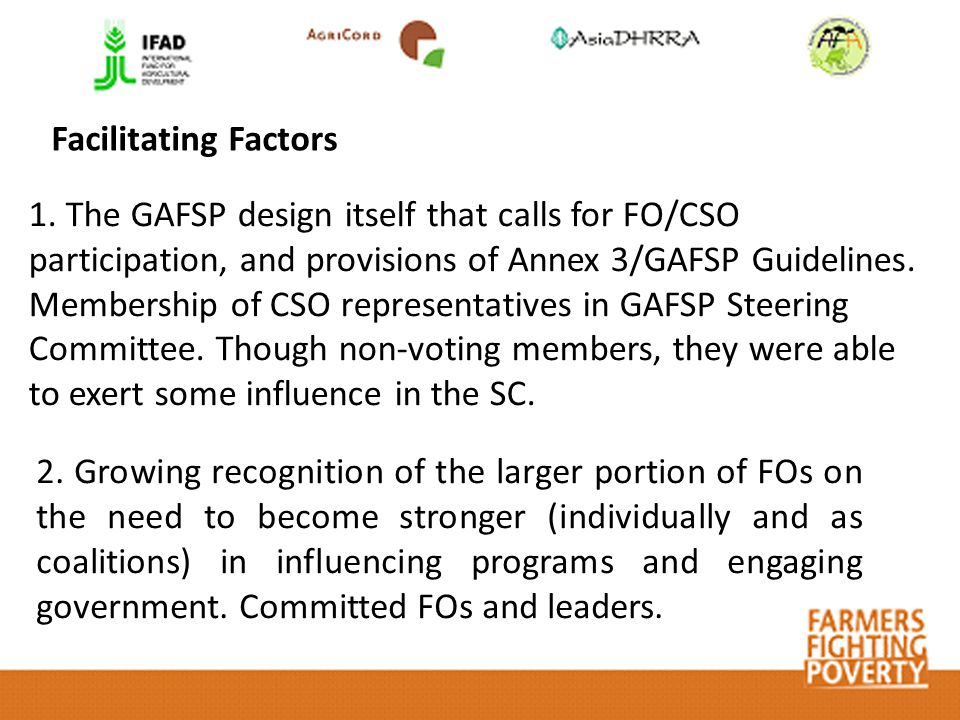 Facilitating Factors 2.