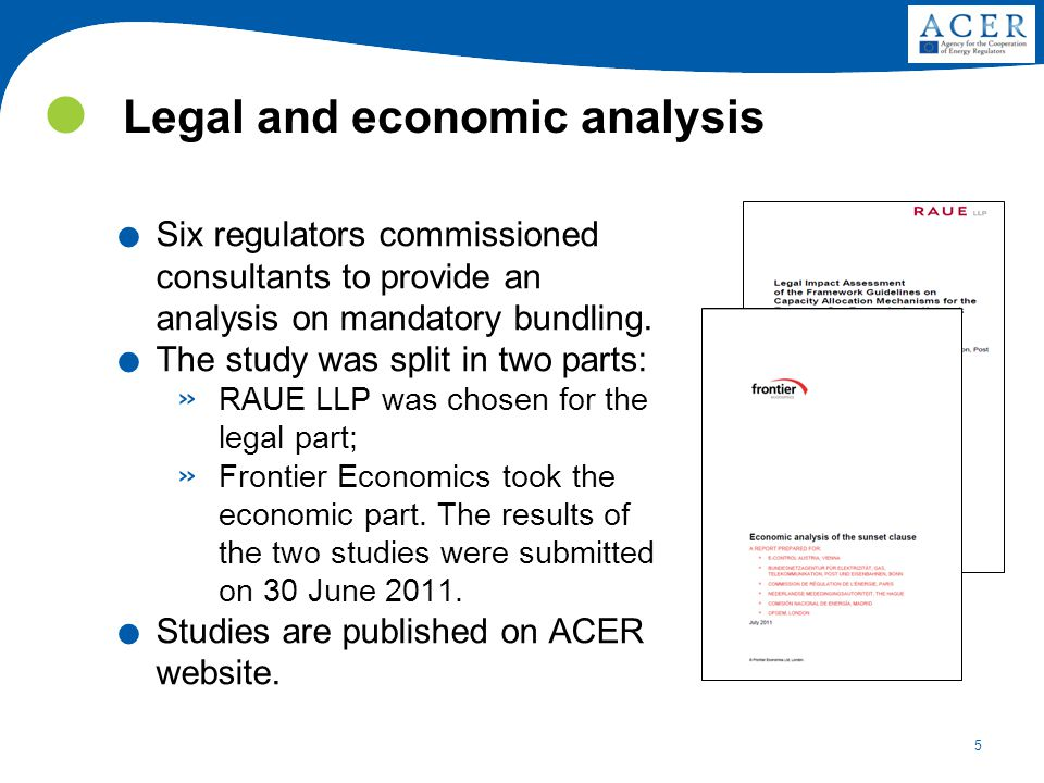 5 Legal and economic analysis.