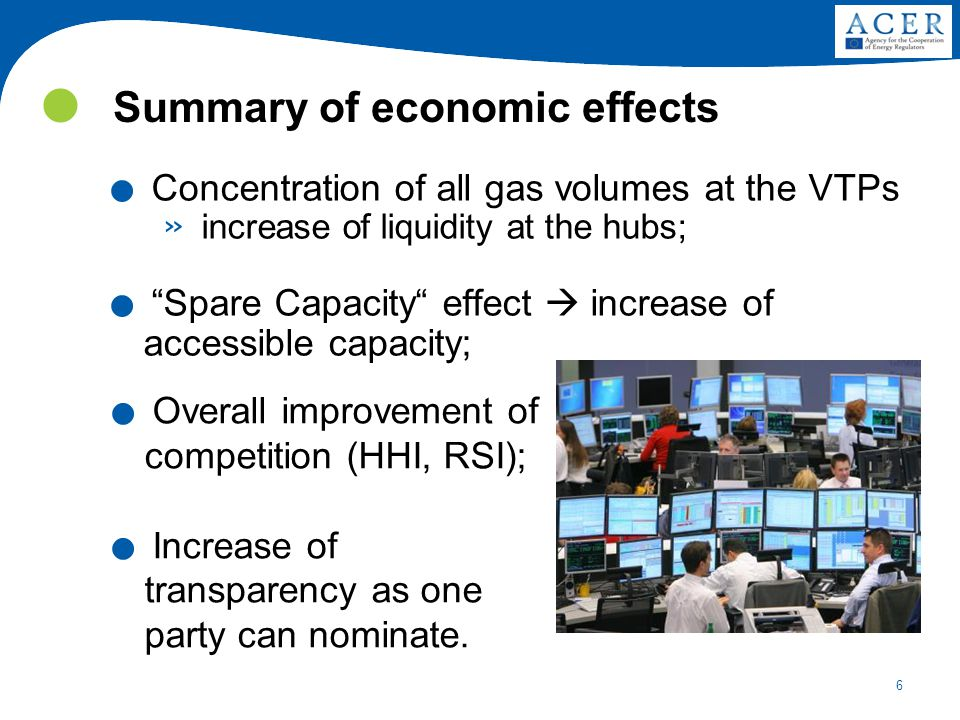 6 Summary of economic effects.