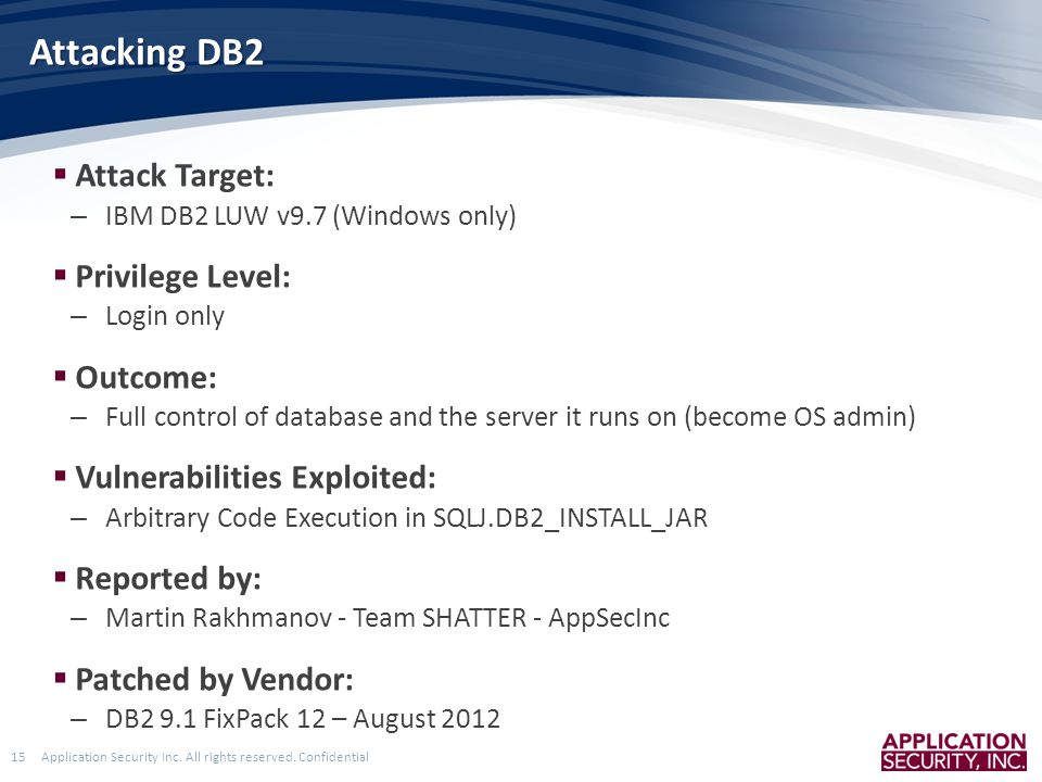 Application Security Inc. All rights reserved.