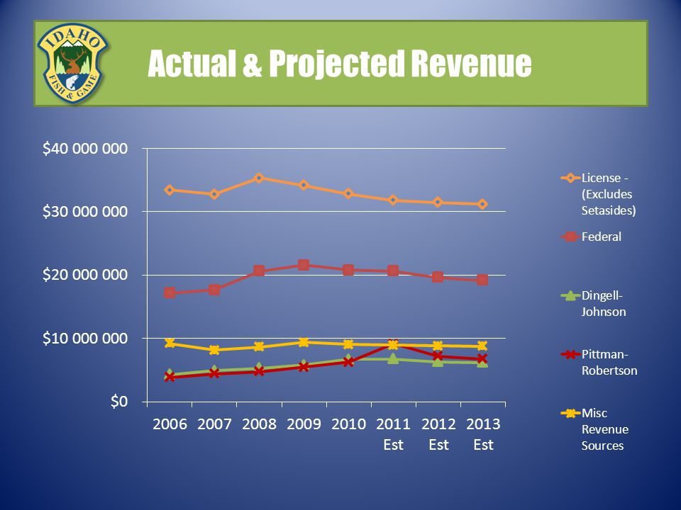Actual & Projected Revenue