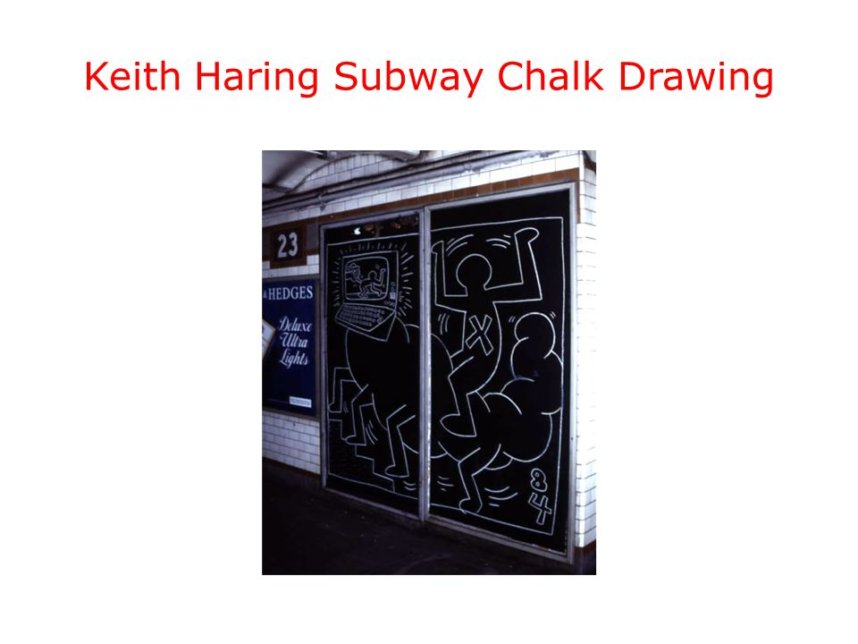 Keith Haring Subway Chalk Drawing